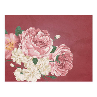 Cluster of Roses on Deep Pink Postcards