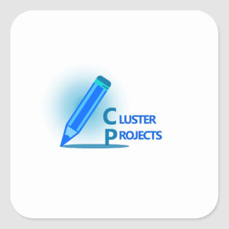Cluster Projects Square Sticker