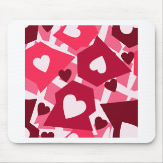 Clustered heart mouse pad