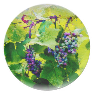clusters of grapes 17 plate
