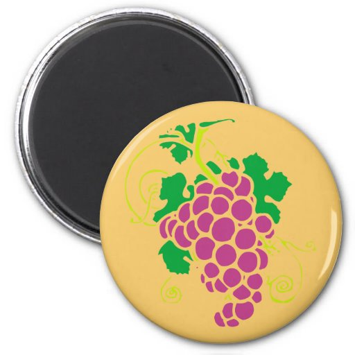 Clusters of grapes magnet