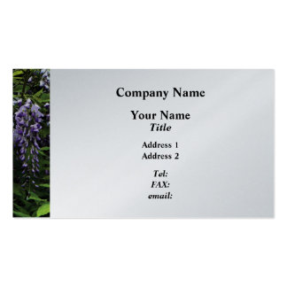 Clusters of Wisteria  - Platinum Finish Pack Of Standard Business Cards