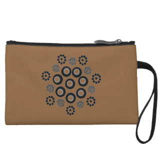 Clutch Bag brown black Custom