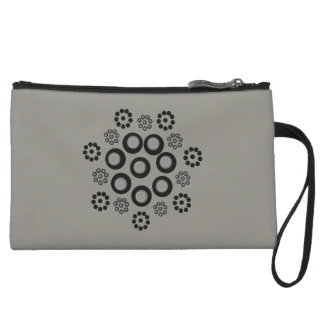 Clutch Bag grey black Custom