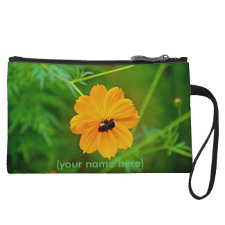 Clutch Bag with Brown-Eyed Susan and Bee
