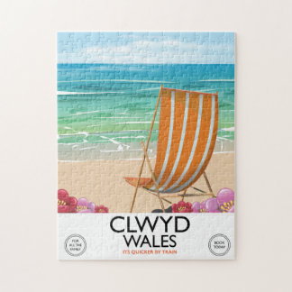 Clwyd Wales Seaside travel poster Jigsaw Puzzle
