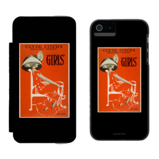 """Clyde Fitch's Greatest Comedy, """"Girls"""" Theatre 2 Incipio Watson™ iPhone 5 Wallet Case"""