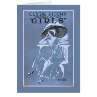 "Clyde Fitch's Greatest Comedy, ""Girls"" Theatre Card"