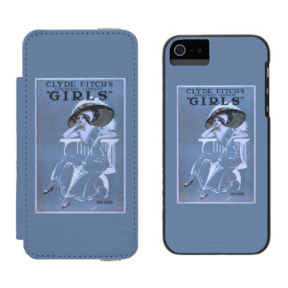 """Clyde Fitch's Greatest Comedy, """"Girls"""" Theatre Incipio Watson™ iPhone 5 Wallet Case"""