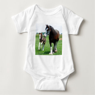 Clydesdale and Filly Baby Bodysuit