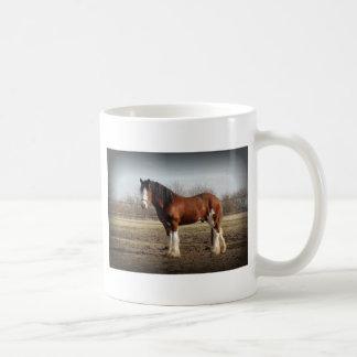 clydesdale black border coffee mug