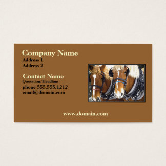 Clydesdale Draft Horse Business Card
