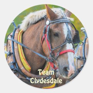 Clydesdale Draft Horse Equine Art Sticker