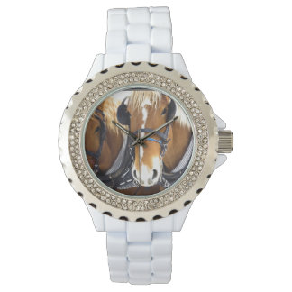 Clydesdale Draft Horses Wristwatch