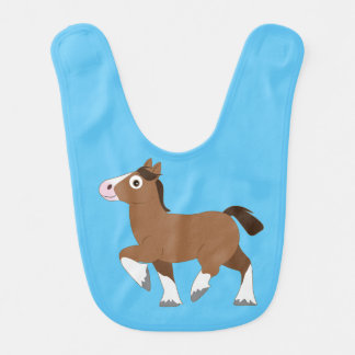 Clydesdale Horse Cartoon Bib