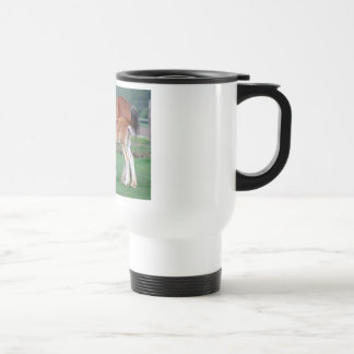 Clydesdale mare and foal coffee mugs