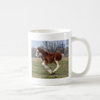 Clydesdale stud colt running coffee mug