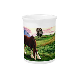 Clydesdale Sunset Pitcher