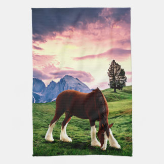 Clydesdale Sunset Tea Towel