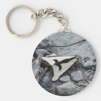 Clymene Moth Basic Round Button Key Ring