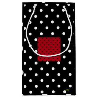 Cm3 Polka Dot Heart Gift Bag