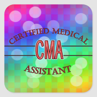 CMA Certified Medical Assistant LOGO Square Sticker