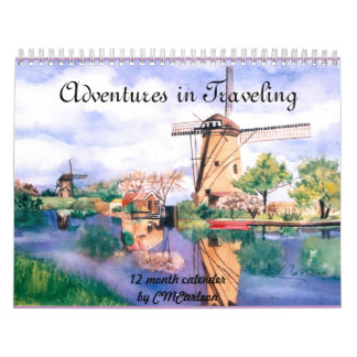 CMCarlson  Adventures in Traveling Calender Wall Calendar