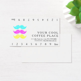 CMY Moustaches Business Card