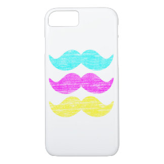 CMY Mustache facial hair iPhone 7 Case