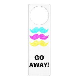 CMY Mustaches (letterpress style) Door Hanger