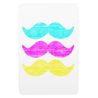 CMY Mustaches (letterpress style) Rectangular Photo Magnet