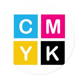 CMYK 13 CM X 13 CM SQUARE INVITATION CARD