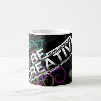 CMYK BE CREATIVE COFFEE MUG