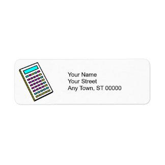 CMYK Calculator Retro Graphic Return Address Label