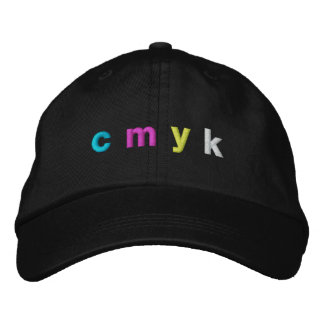 cmyk - color connection embroidered hat