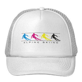 CMYK - Downhill Skier Silhouette Hat