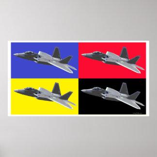 CMYK F-22 Raptor Poster