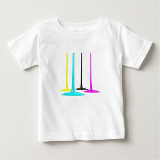 CMYK paint pour on white Baby T-Shirt