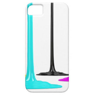 CMYK paint pour on white iPhone 5 Cases