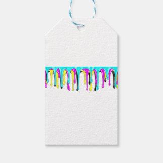 CMYK paint splash Gift Tags