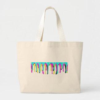 CMYK paint splash Large Tote Bag