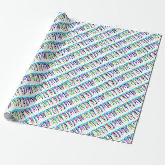 CMYK paint splash Wrapping Paper