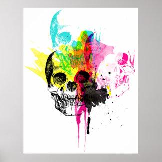 CMYK Skull Poster