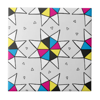 CMYK Star Wheel Tile