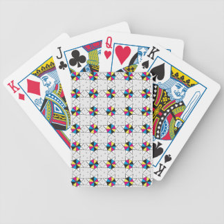 CMYK Star Wheels Bicycle Playing Cards
