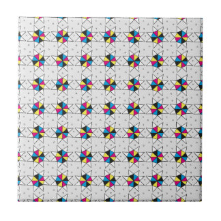 CMYK Star Wheels Tile
