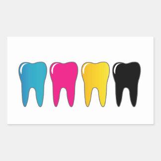 CMYK tooth Rectangular Sticker