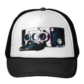 CMYK Vintage Camera Picture Pop Art Cap