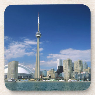 CN Tower and Skydome in Toronto, Ontario, Coaster