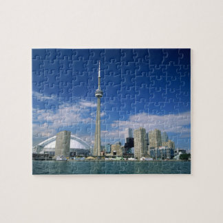 CN Tower and Skydome in Toronto, Ontario, Jigsaw Puzzle